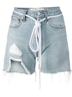 рваные джинсовые шорты Off-White