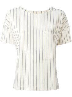 блузка в тонкую полоску с нагрудным карманом Bellerose