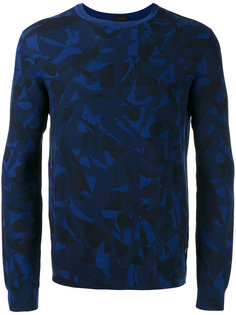 leaf patterned sweatshirt Z Zegna