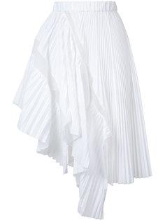 плиссированная юбка асимметричного кроя Sacai