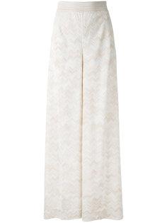 брюки-палаццо с зигзагообразным узором Missoni
