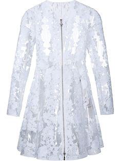 прозрачное кружевное пальто Moncler Gamme Rouge