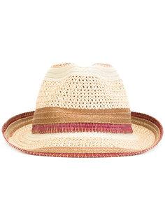 соломенная шляпа с контрастной отделкой Etro