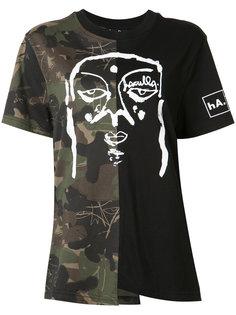 printed pieced T-shirt Haculla