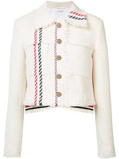 укороченная джинсовая куртка Thom Browne