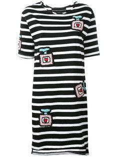 полосатое платье с заплатками Michaela Buerger