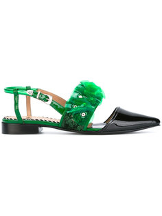 ruffle and sequin embellished sandals Toga Pulla
