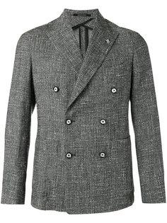 фактурный двубортный пиджак  Tagliatore