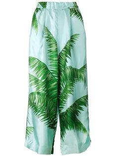 пижамные брюки с принтом листьев пальмы F.R.S For Restless Sleepers