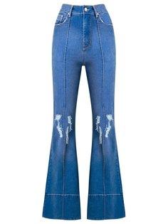distressed high waist flared jeans Amapô