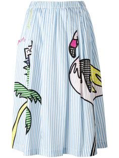 mixed print A-line skirt Mira Mikati