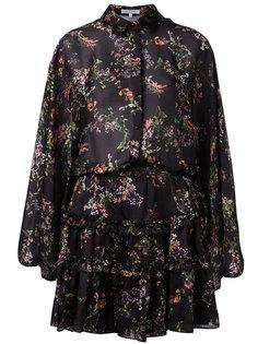 платье с цветочным принтом и рюшами Alexis