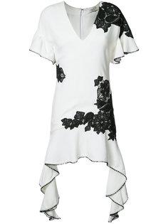 contrast lace flutter dress Jonathan Simkhai