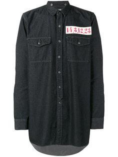 джинсовая рубашка с нашивкой Maison Mihara Yasuhiro