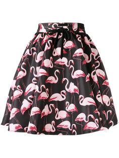 юбка с принтом фламинго  Red Valentino