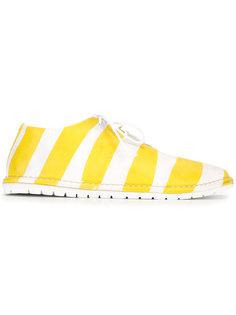 туфли на шнуровке в полоску Marsèll