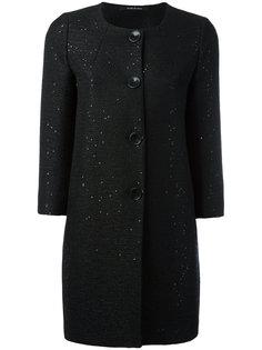 пальто с отделкой пайетками Tagliatore