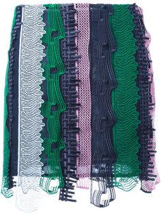 вышитая мини-юбка в стиле пэчворк Versace