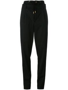 брюки с двойным поясом Saint Laurent