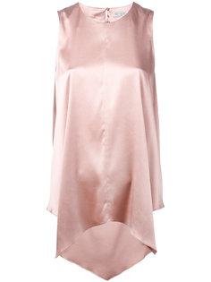 расклешенная блузка с эффектом металлик Brunello Cucinelli