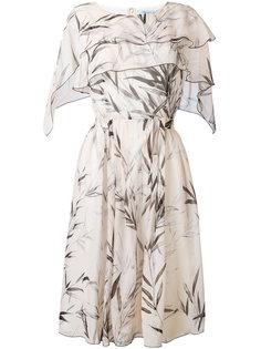 платье длины миди с рисунком из листьев Blumarine