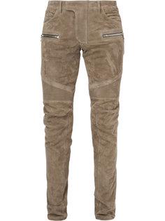 байкерские брюки Balmain