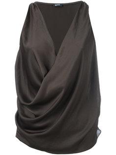 блузка с запахом без рукавов Jil Sander Navy