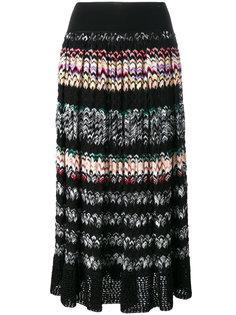 плиссированная юбка в полоску зигзаг Missoni