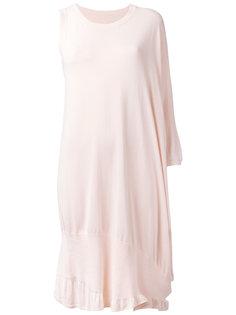 драпированное платье-свитер на одно плечо Mm6 Maison Margiela