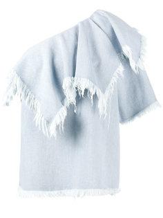 джинсовый топ на одно плечо Marquesalmeida