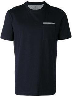 футболка с нагрудным карманом Brunello Cucinelli