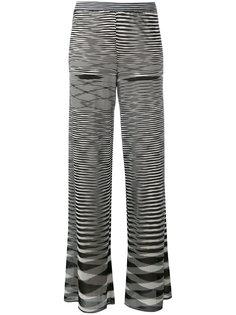 брюки клеш с принтом зигзаг Missoni