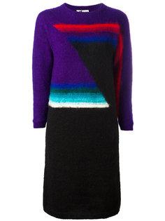geometric wool dress Kansai Yamamoto Vintage