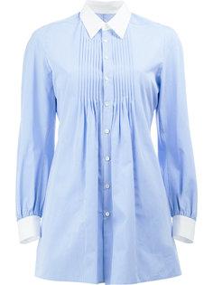полосатая рубашка с плиссировкой спереди Junya Watanabe Comme Des Garçons