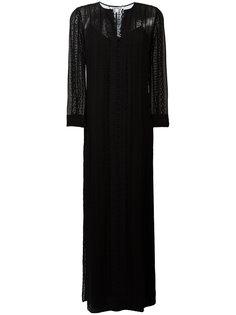 длинное платье с кружевными вставками Elizabeth And James