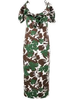 платье с тропическим принтом Rosie Assoulin