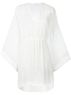 flared sleeves sheer dress Isabel Benenato