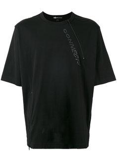 футболка мешковатого кроя с молнией Y-3