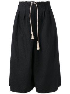 шорты до колена с шнуровкой на поясе Forte Forte