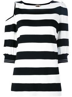футболка в полоску с вырезной деталью IM Isola Marras