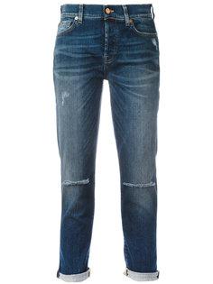 рваные джинсы-бойфренды 7 For All Mankind