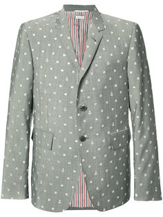 portal and anchor print blazer Thom Browne
