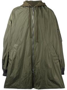 свободное пальто с капюшоном Juun.J