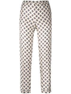 брюки с мелким принтом Alberto Biani