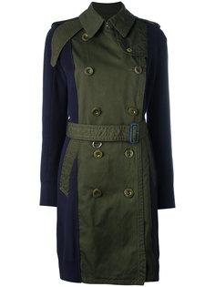 пальто с контрастными рукавами Sacai