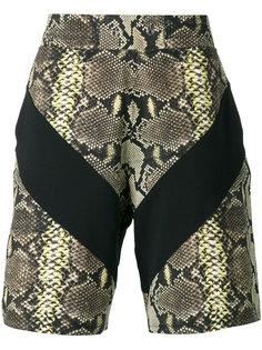 шорты бермуды с эффектом змеиной кожи Givenchy