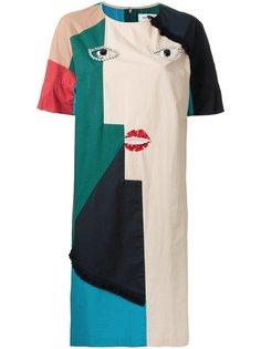 платье-футболка с абстрактным принтом Muveil