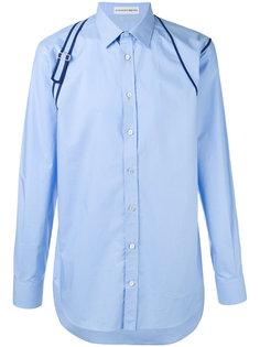рубашка с отделкой на плечах Alexander McQueen