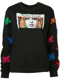 embroidered print sweatshirt Haculla