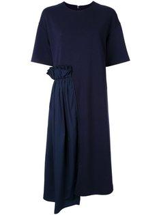 платье-футболка с оборками Muveil